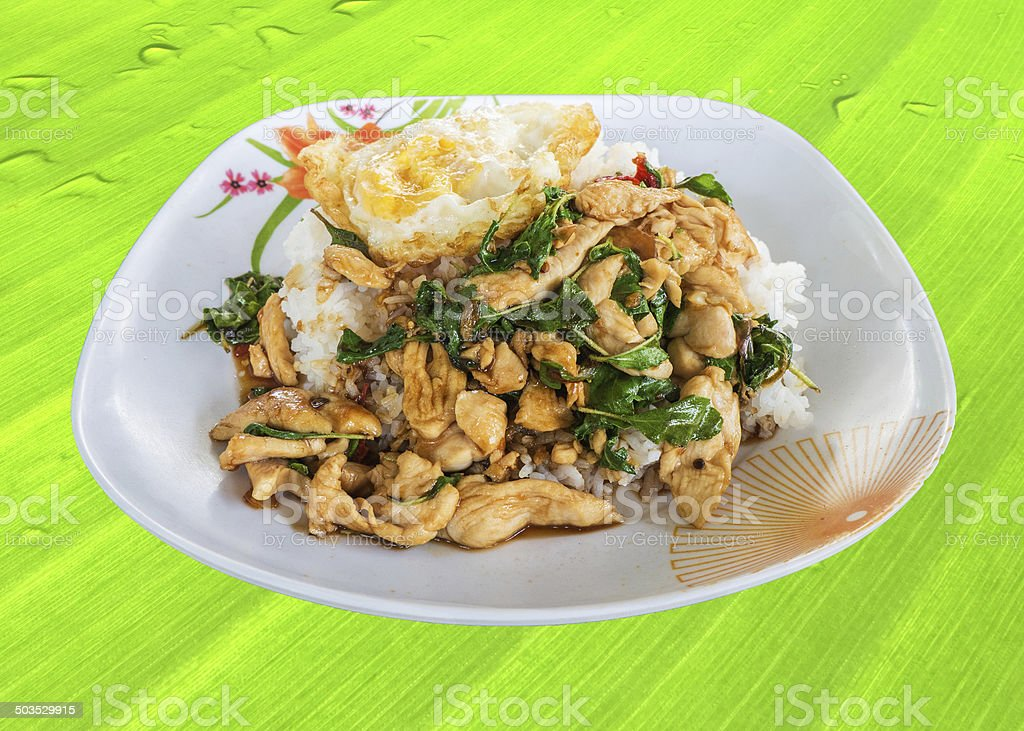 Thailand food spicy fried chicken royalty-free stock photo