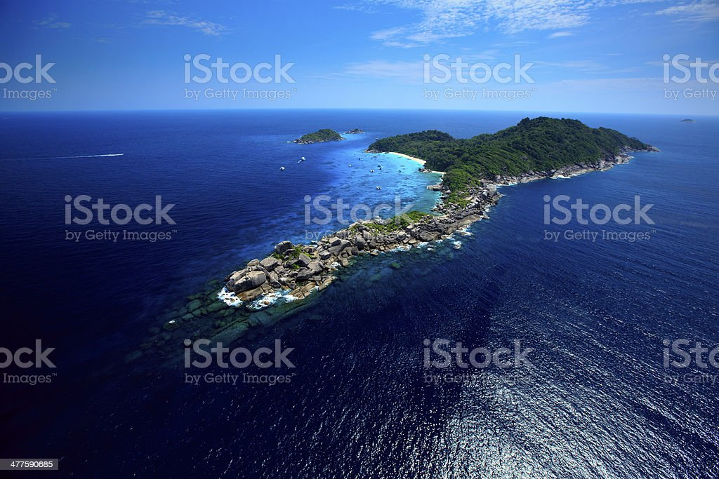 Thailand from The air Similan Island National Park stock photo