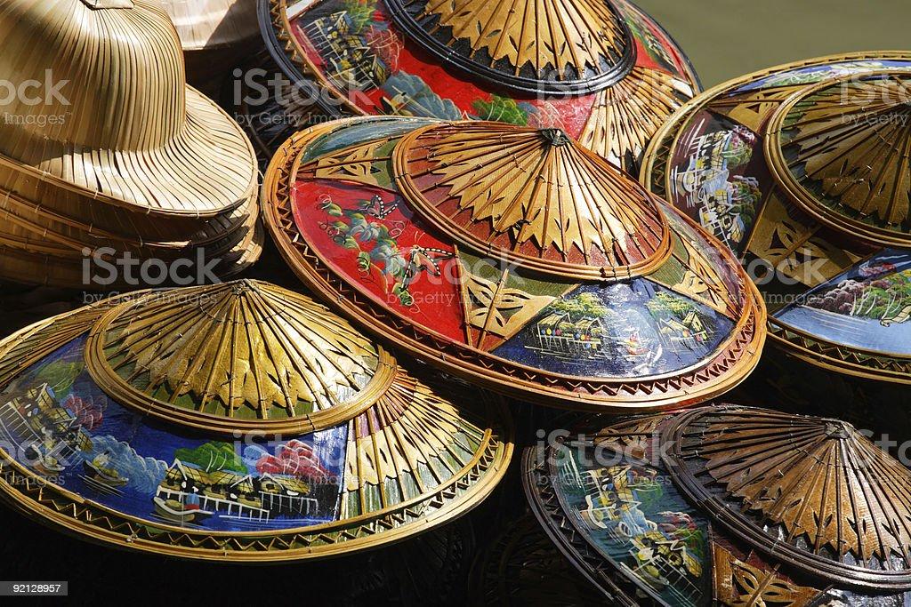 Thailand hats royalty-free stock photo