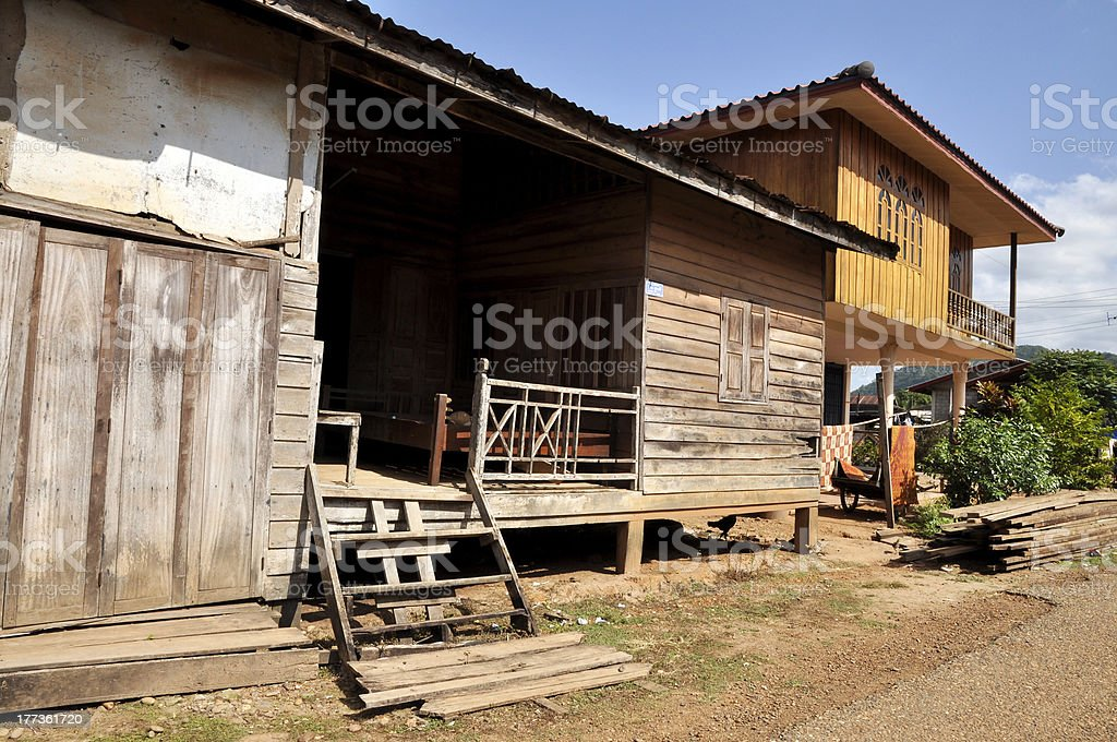 Thailand House Village Outdoor Local Country royalty-free stock photo