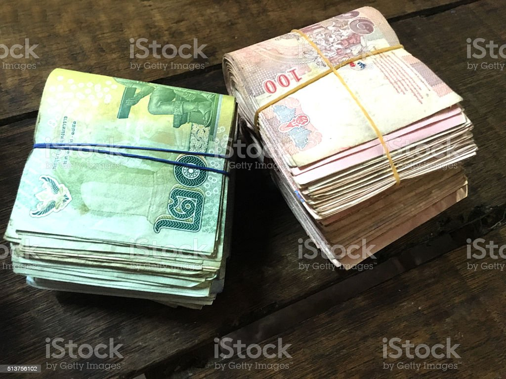 Thailand is a pile of money stock photo