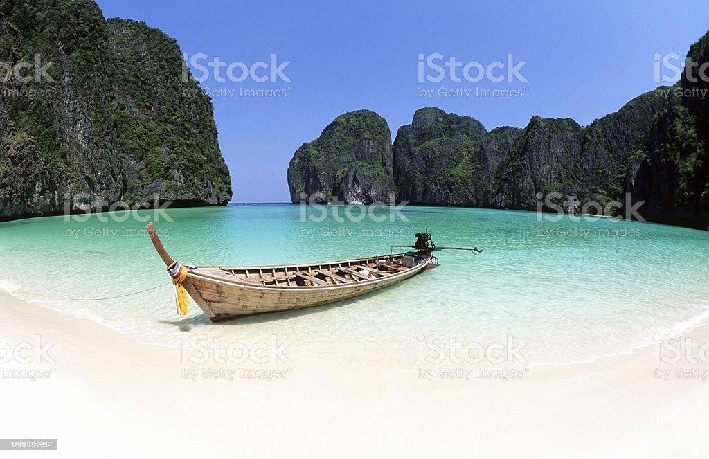 Thailand, Krabi Province, Ko PhiPhi Leh, Maya Bay. stock photo