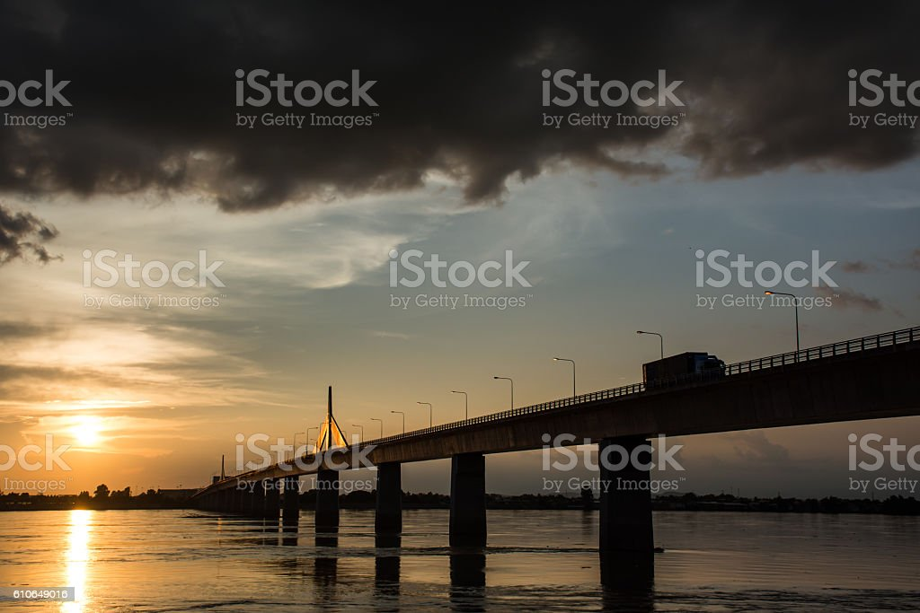 Thailand - Laos Friendship Bridge stock photo