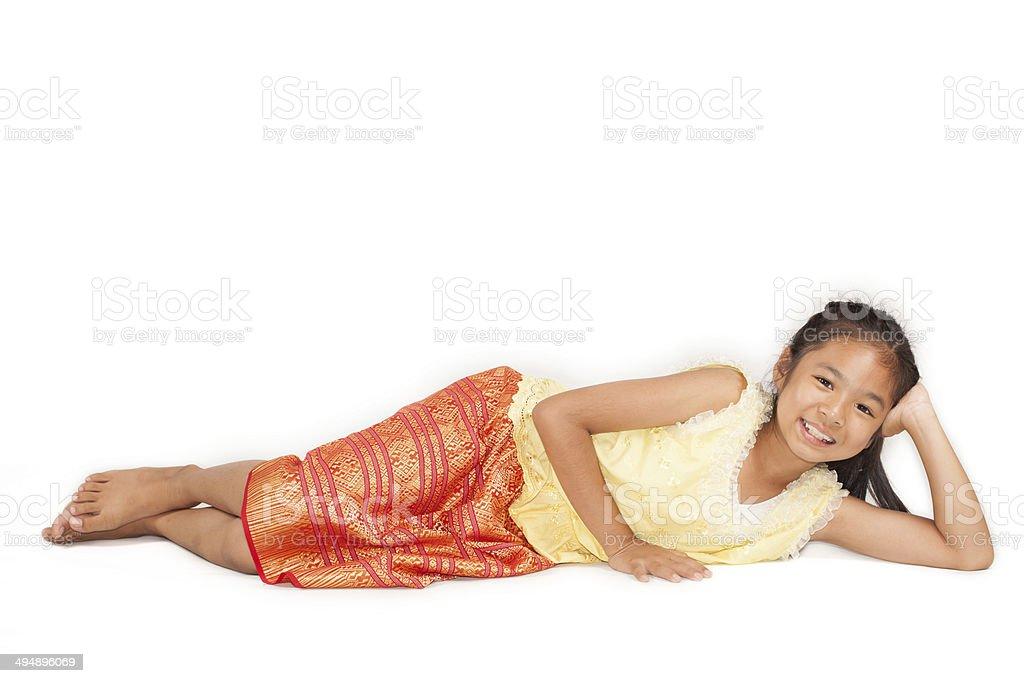 thailand little girl stock photo