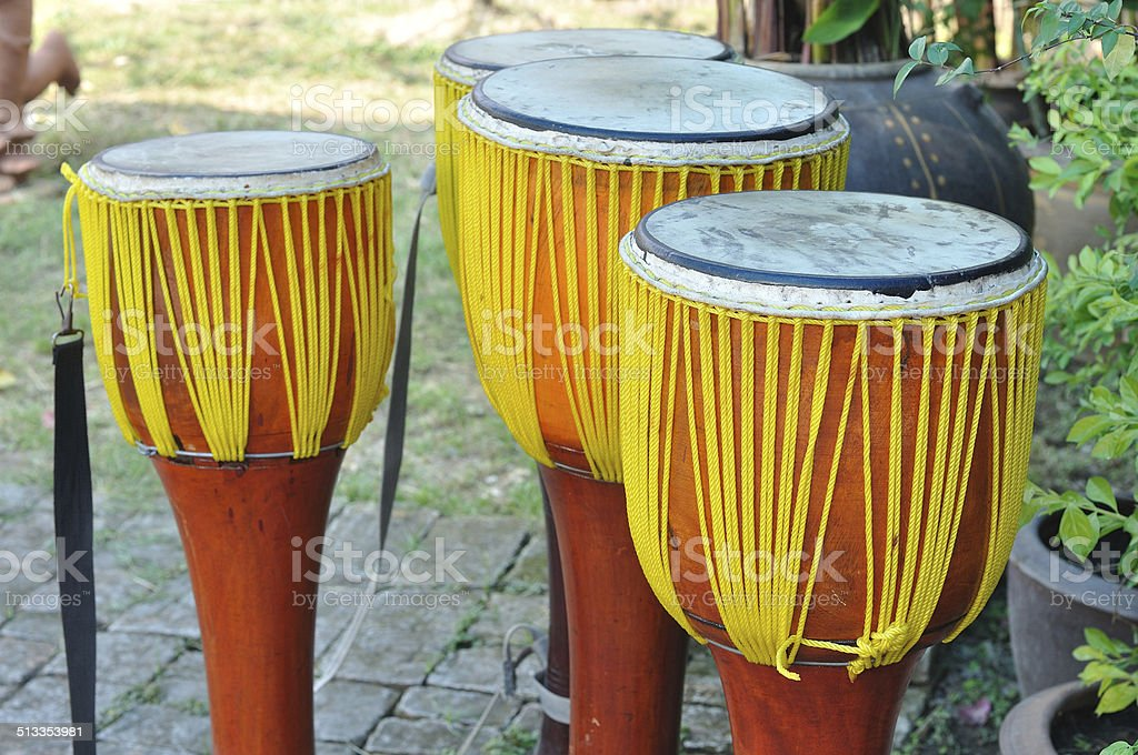 Thailand local tradition music instruments stock photo