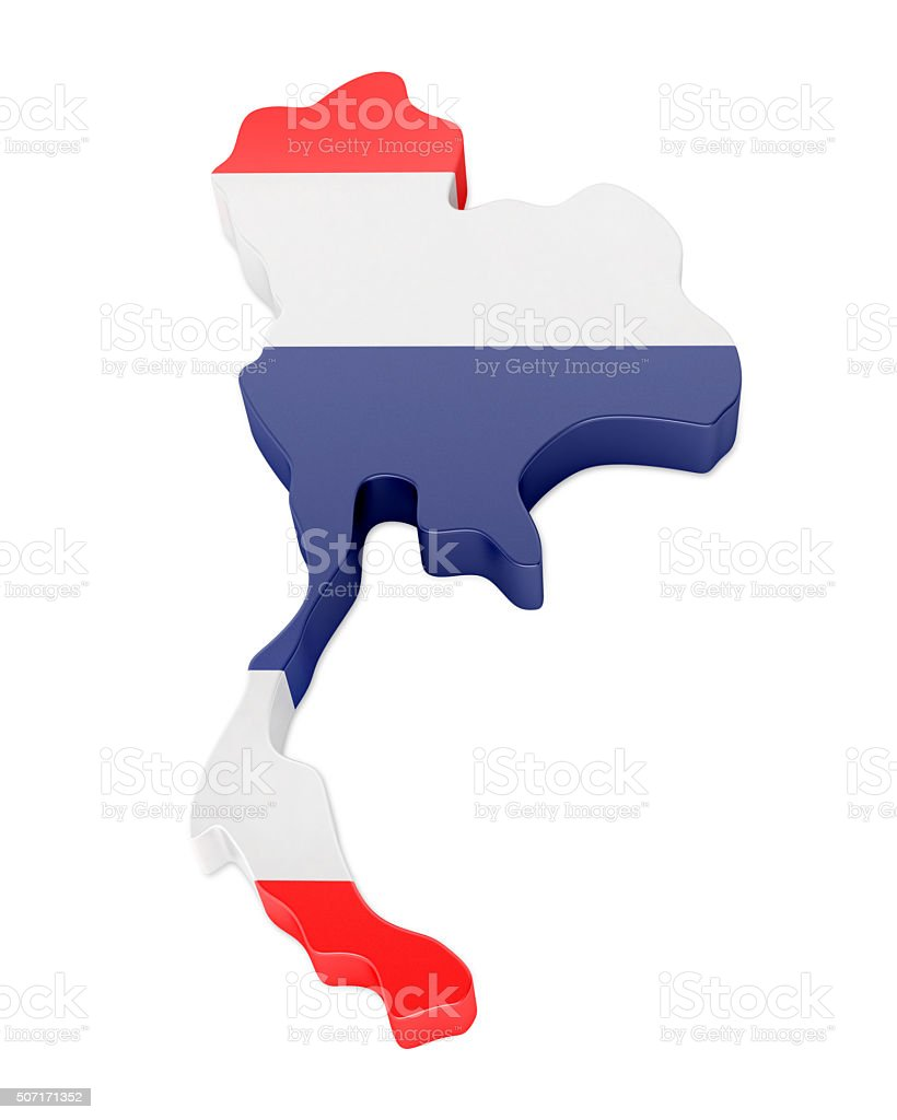 3d Thailand Map Stock Photo & More Pictures of Asia | iStock