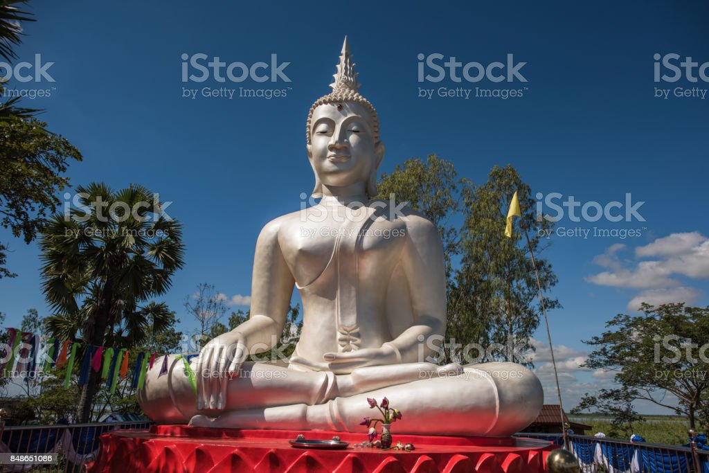 Thailand, marmor buddha stock photo