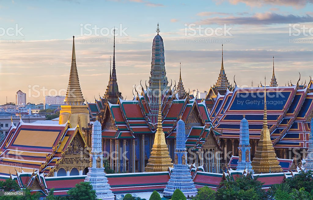 Thailand national Grand palace, Bangkok landmark royalty-free stock photo