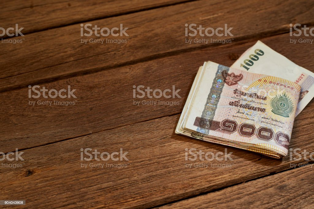 Thailand One Thousand baht Bills stock photo
