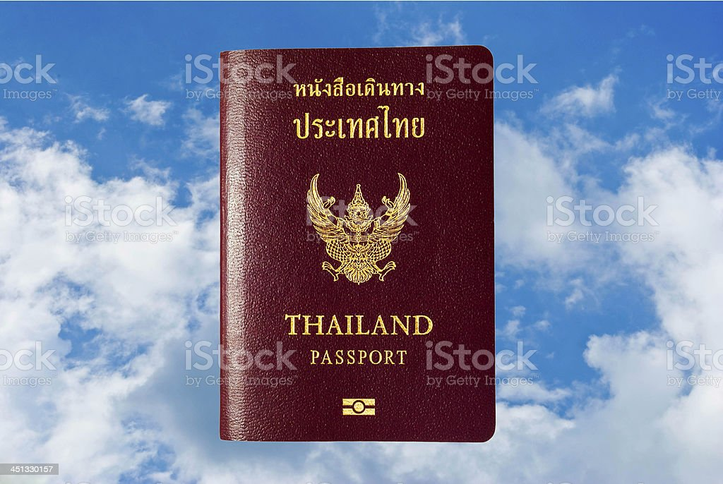 thailand passport royalty-free stock photo