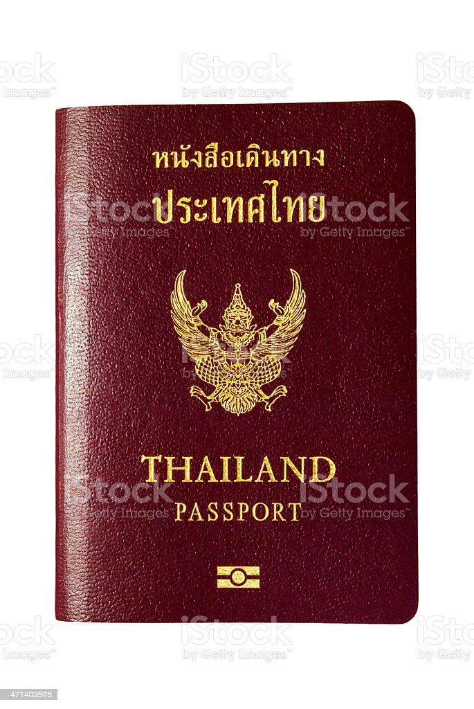 Thailand passport royalty-free stock photo