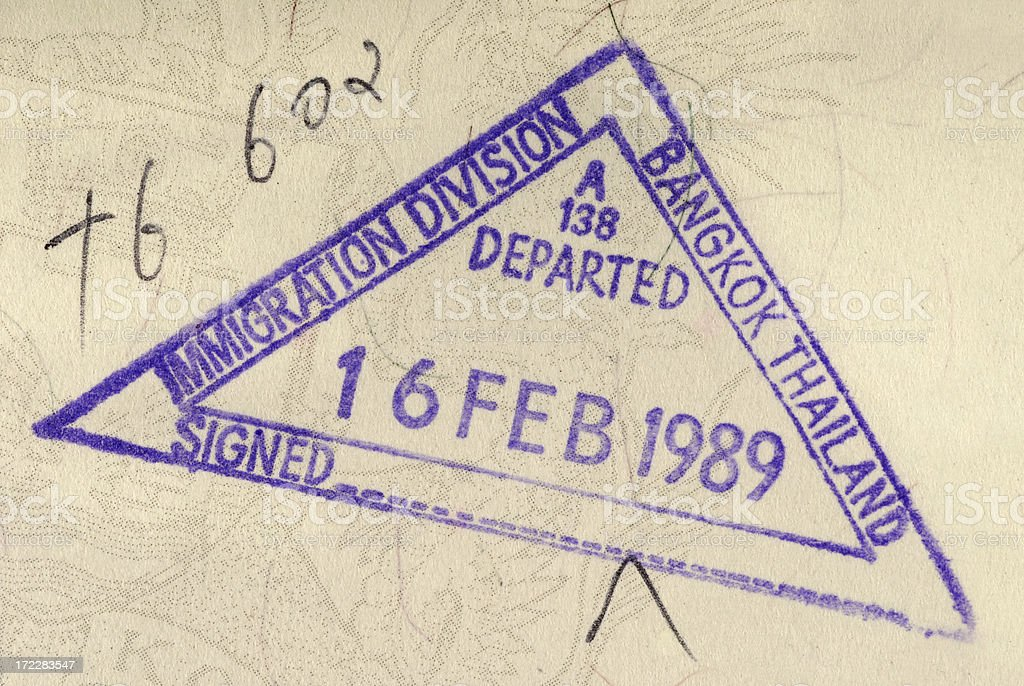 Thailand passport stamp royalty-free stock photo