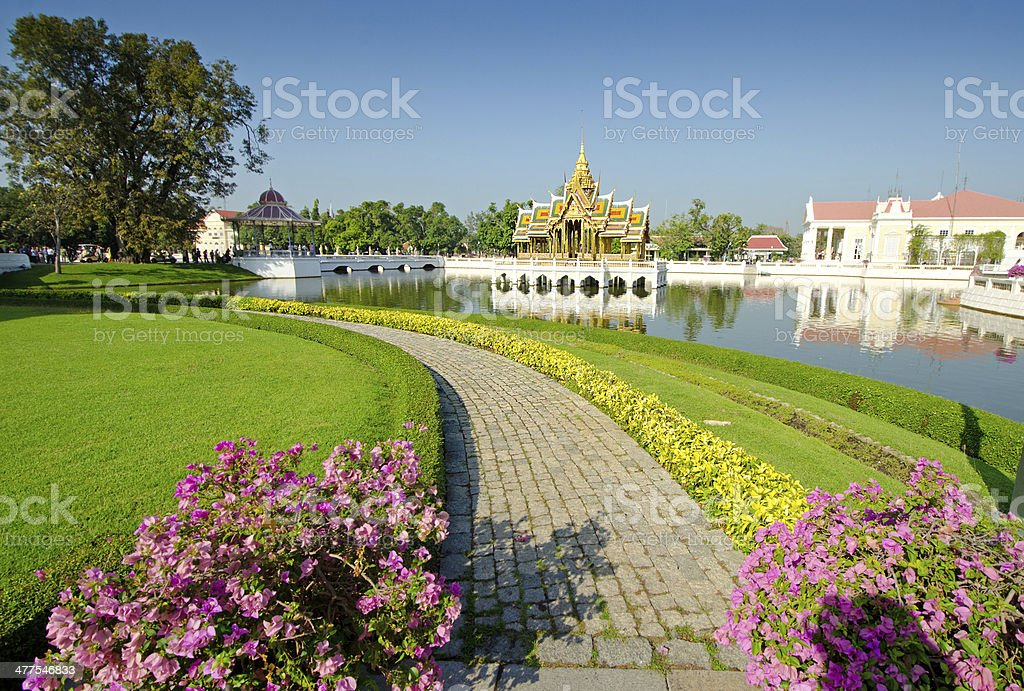 Thailand Royal Bang Pa In Royal Palace, Ayutthaya stock photo