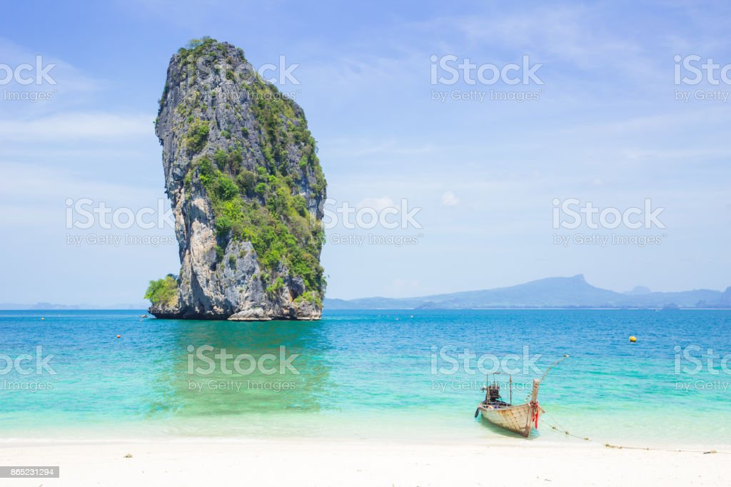 Thailand sea travel private island in summer season concept with space for text stock photo