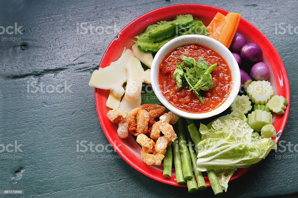 Thailand spicy food chili royalty-free stock photo