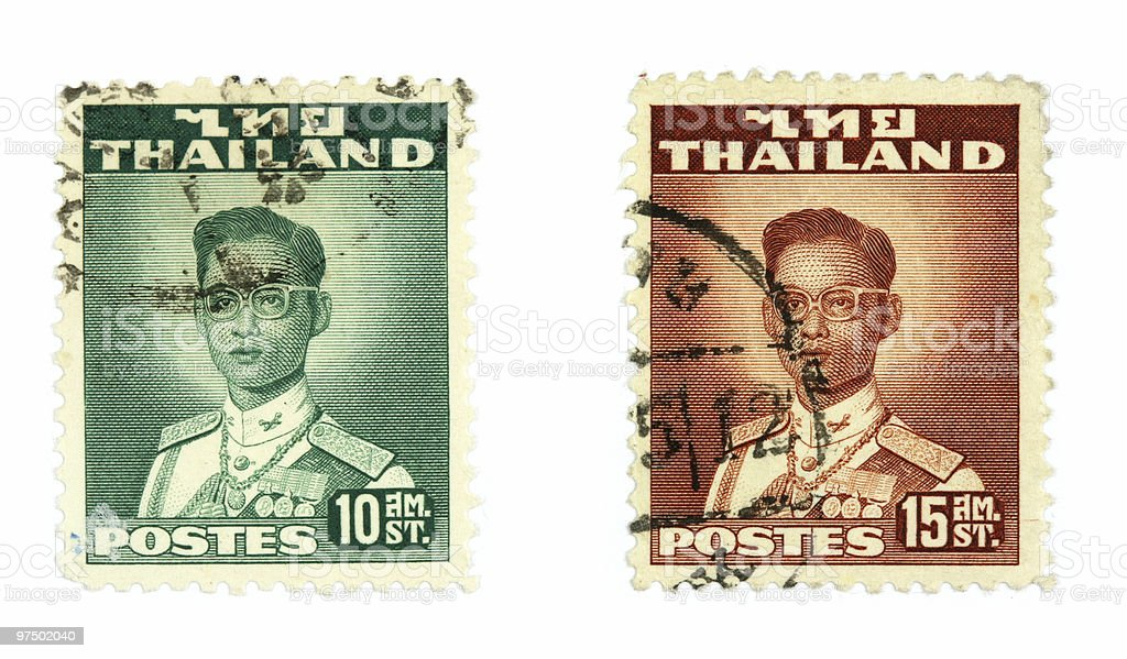Thailand stamps royalty-free stock photo