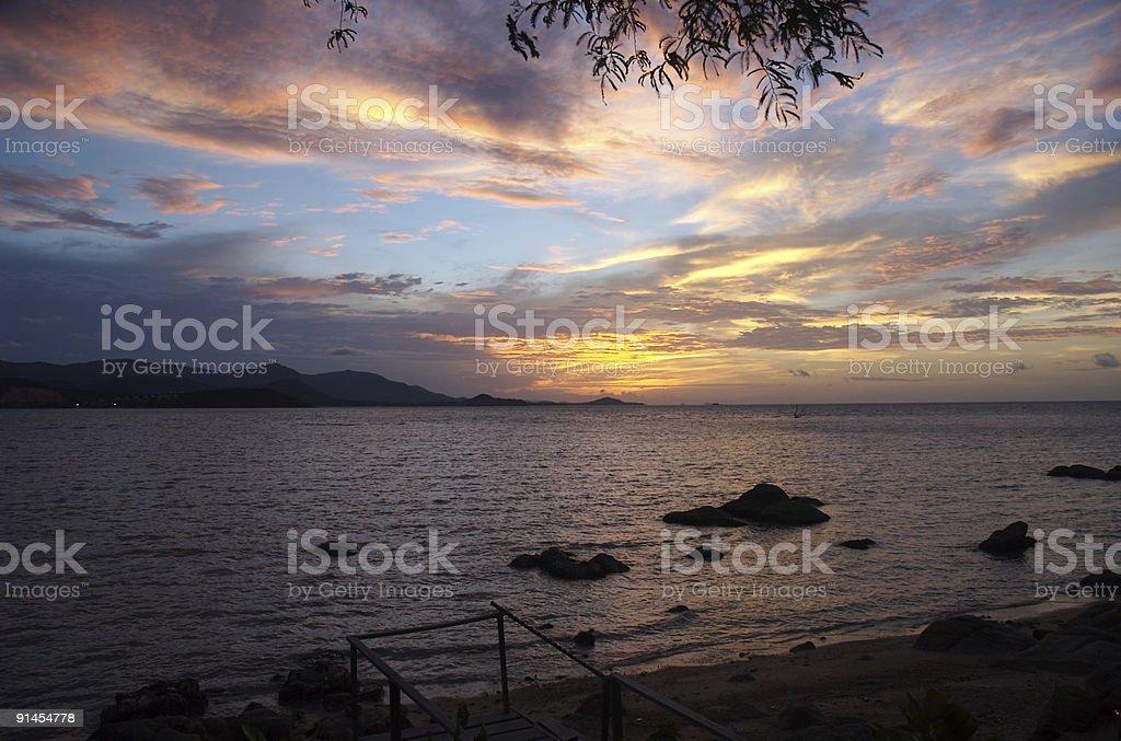 Thailand sunset stock photo