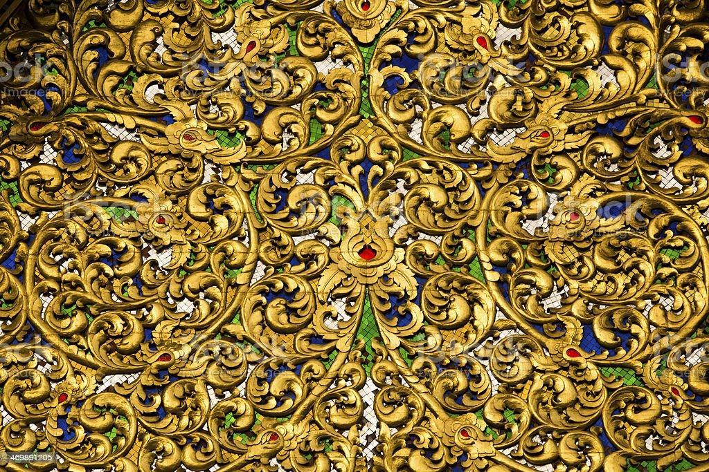 Thailand Temple Ornate Motif royalty-free stock photo