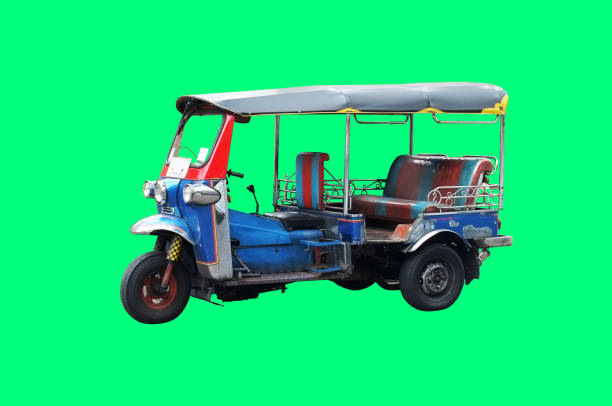 Thailand three wheel native taxi on white background , Thailand Tuk Tuk Thailand three wheel native taxi on white background , Thailand Tuk Tuk three wheel motorcycle stock pictures, royalty-free photos & images