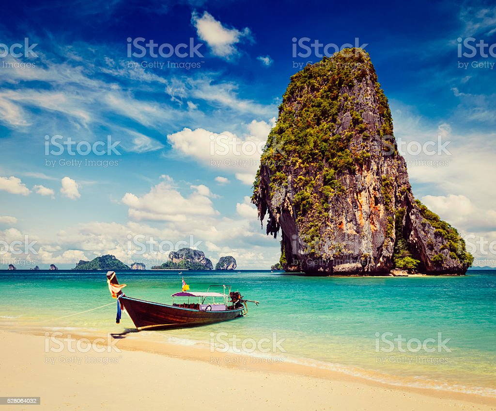 Thailand tropical vacation concept background stock photo