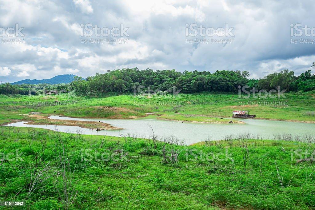 Thailand, Vietnam, Delta, Horizontal, Mekong River stock photo