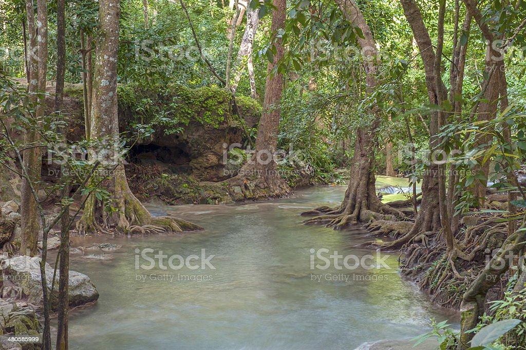 Thailand waterfall royalty-free stock photo