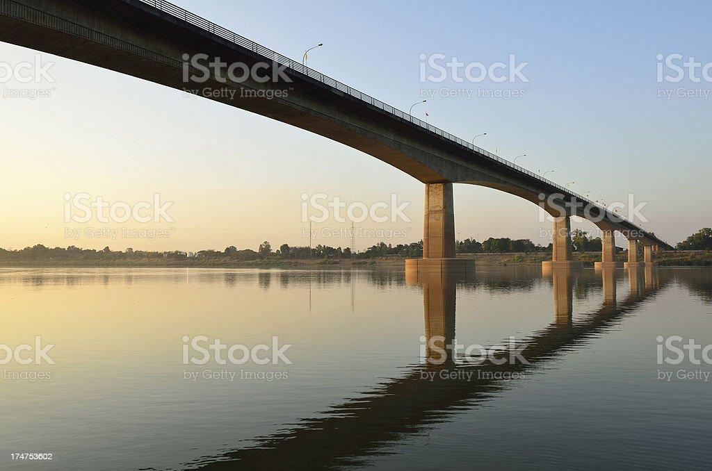 Thai-Laos friendship bridge royalty-free stock photo
