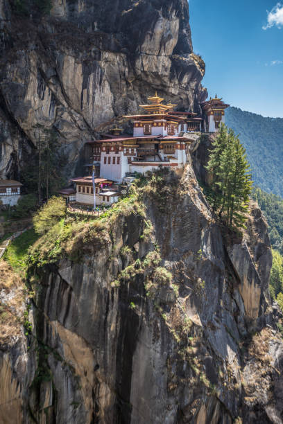 Thaksang - Tigers Nest Temple in Bhutan Bhutan bodhisattva stock pictures, royalty-free photos & images