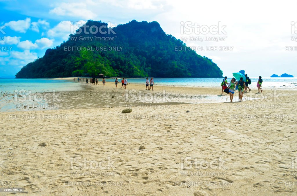 Thale Waek between Koh Kai in the background and Koh Tup in the foreground stock photo