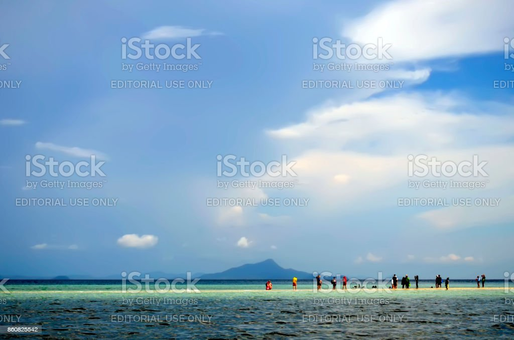 Thale Waek between Tup island and Chicken island in the Andaman Sea off Ao Nang stock photo