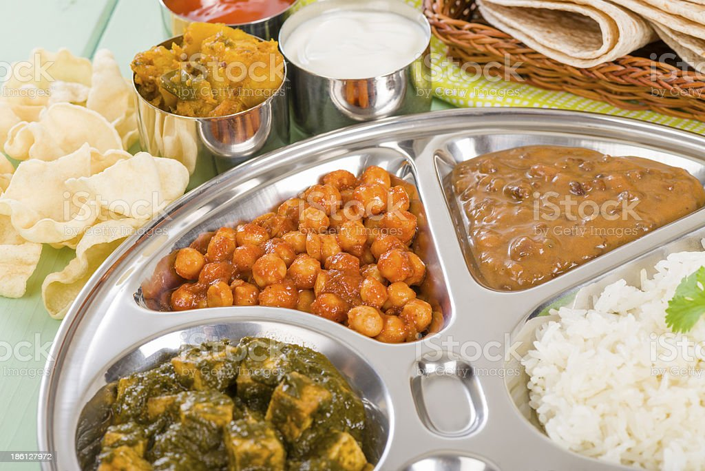 Thali stock photo