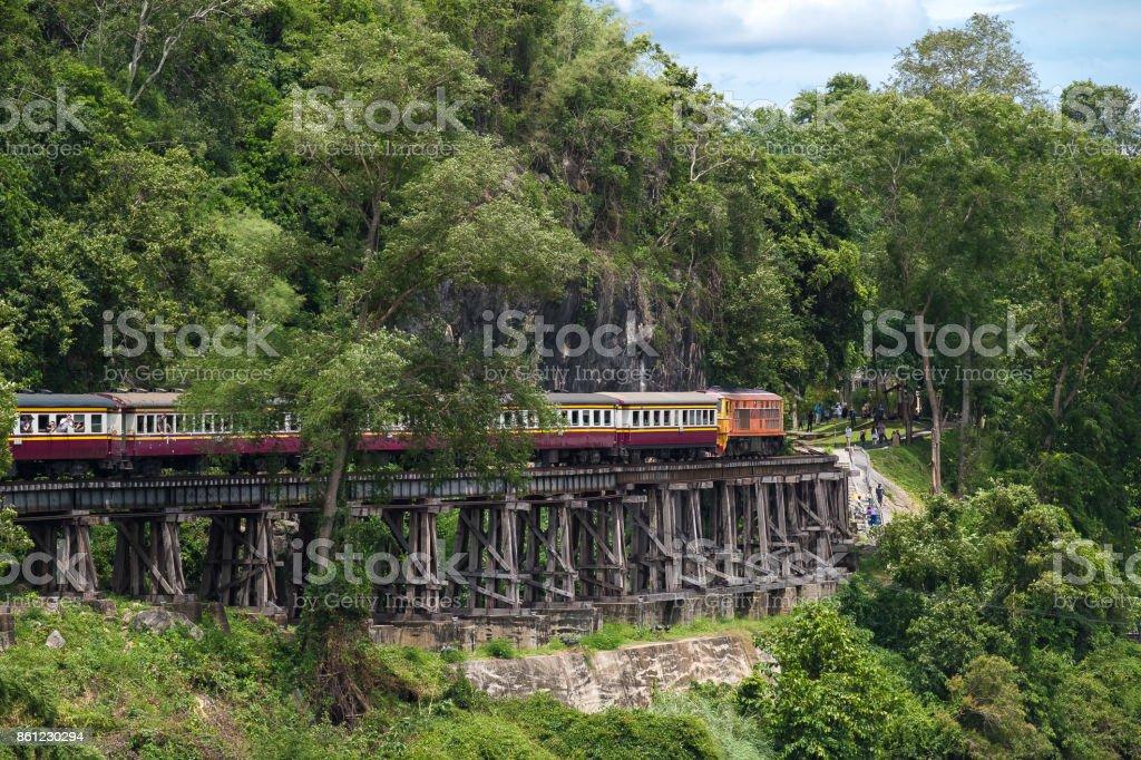 Tham krasae Railway River Kwai Kanchanaburi Thailand stock photo
