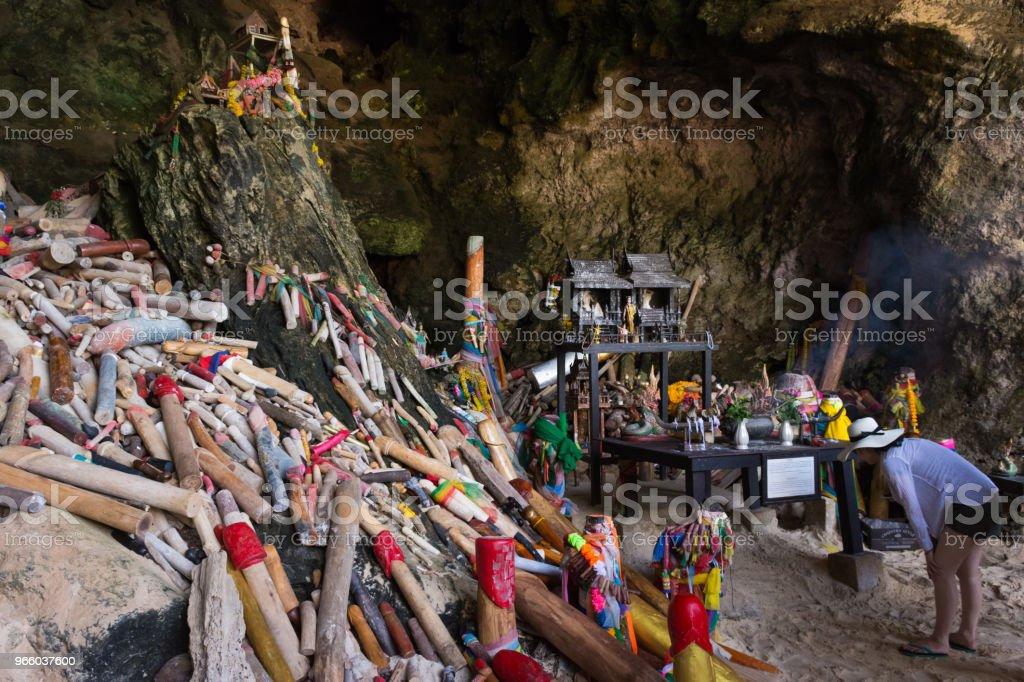 Tham Phra Nang grot - Royalty-free Belichamen Stockfoto