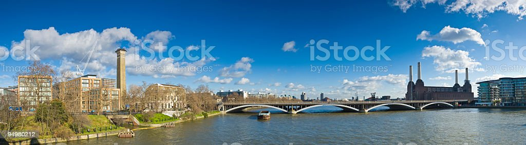Thames at Battersea London stock photo