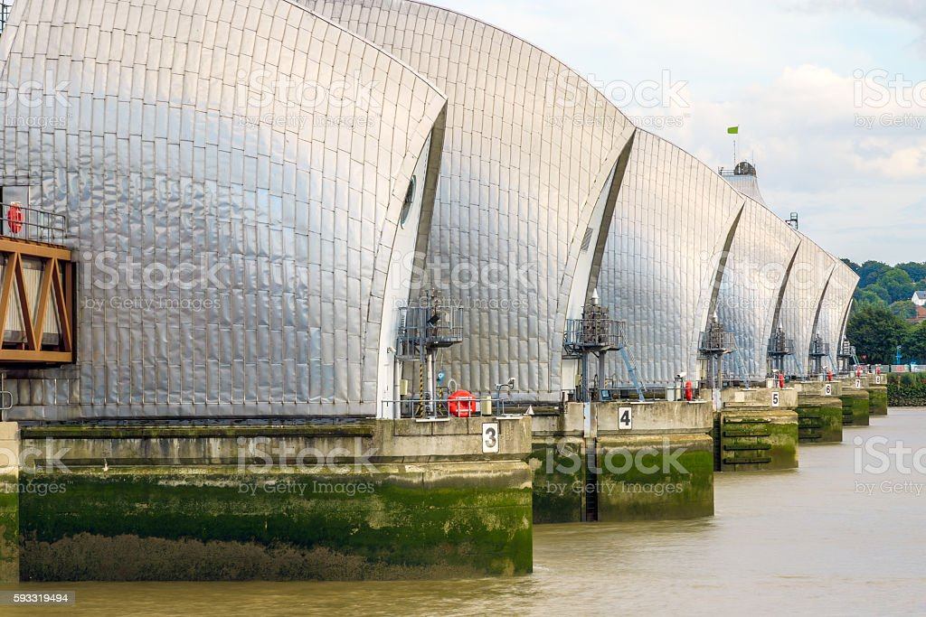 Thames Barrier in London, UK stock photo