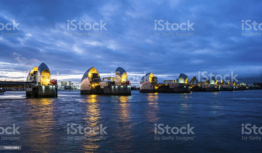 Thames Barrier London stock photo