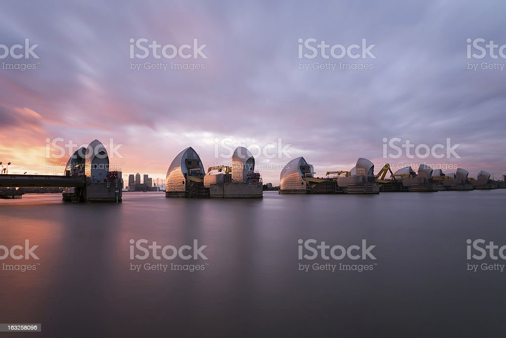 Thames Barrier stock photo