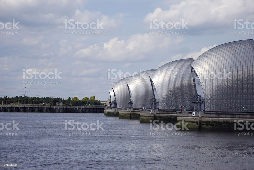 Thames Barriers royalty-free stock photo