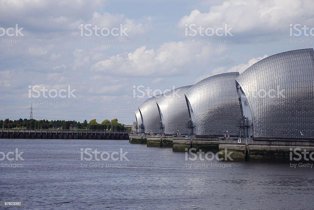 Thames Barriers royaltyfri bildbanksbilder