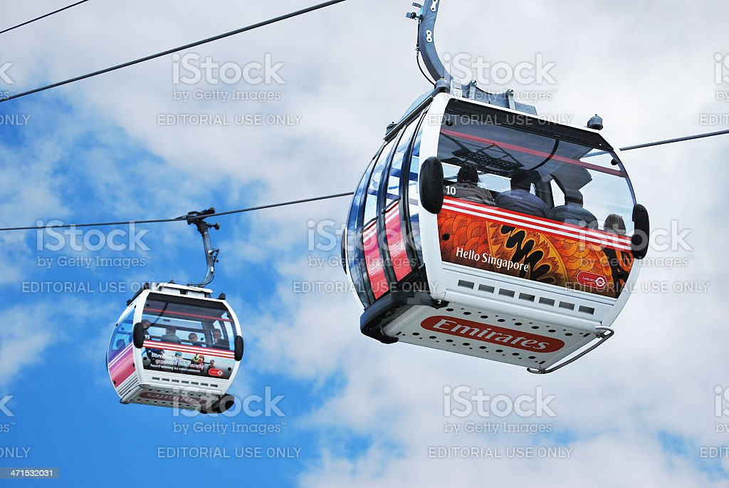 Thames cable car stock photo