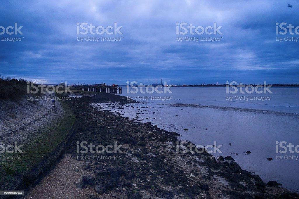 Thames Estuary Shoreline royalty-free stock photo