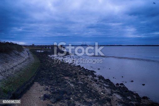 Thames Estuary Shoreline Stock Photo & More Pictures of Business Finance and Industry