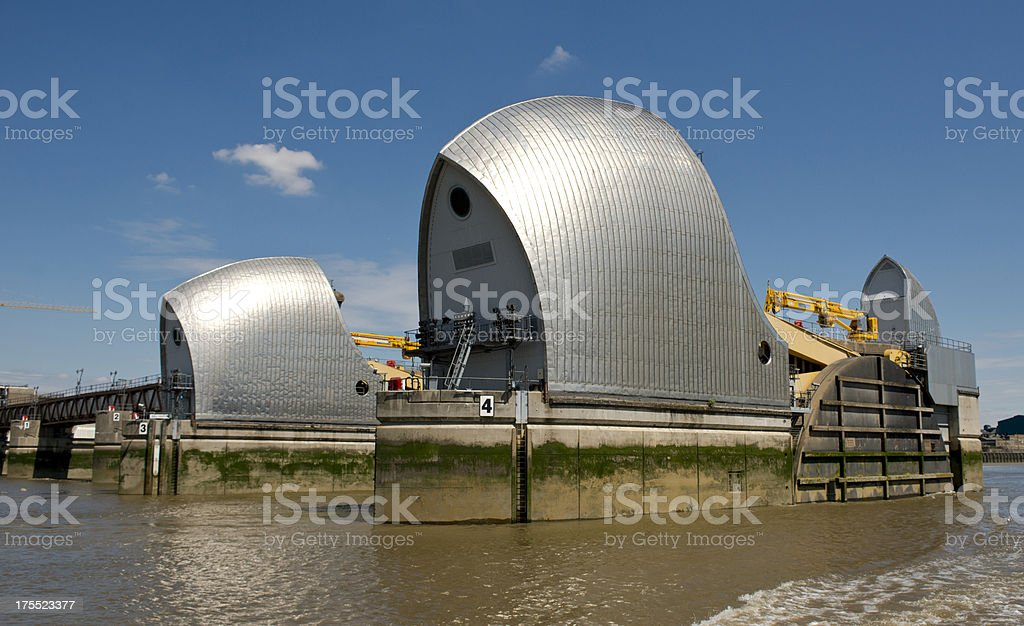 Thames Flood Barrier stock photo