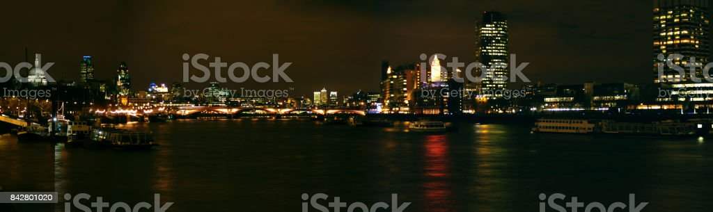 Thames panorama stock photo