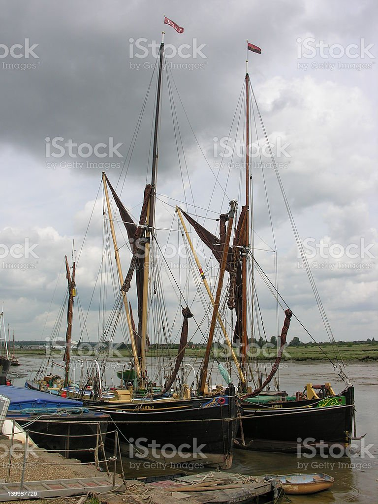 Thames River Barge stock photo