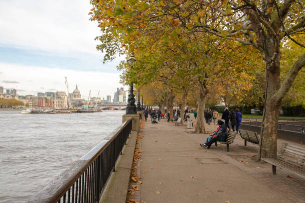 Thames river in London, England stock photo
