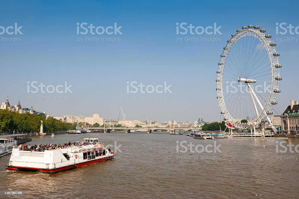 Thames river. London, England stock photo