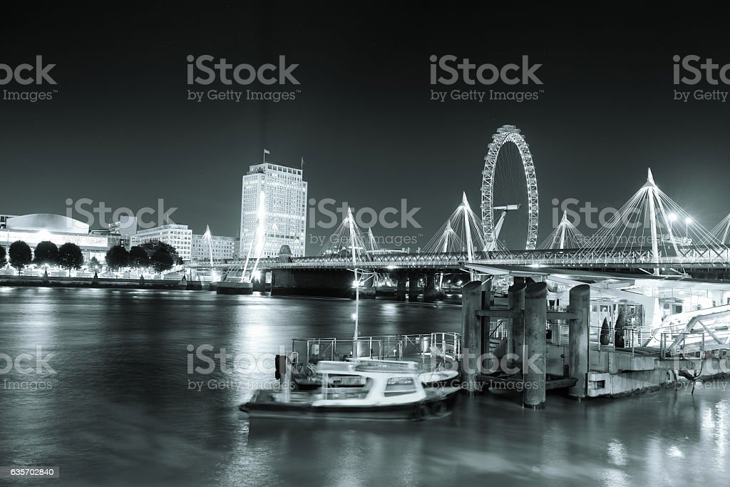 Thames River night royalty-free stock photo