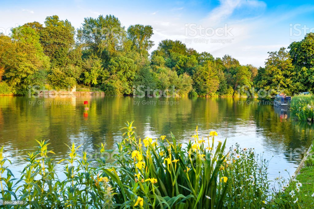 Thames River. Oxford, England stock photo