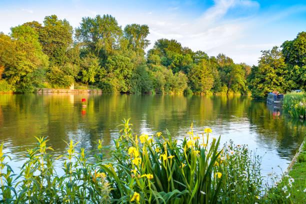 Thames River. Oxford, England stock photo